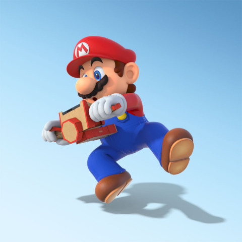 Starting today, a free software update is available for the Mario Kart 8 Deluxe game for the Nintendo Switch system, allowing you to use the Toy-Con Motorbike from the Nintendo Labo: Variety Kit to control your in-game vehicles. (Graphic: Business Wire)
