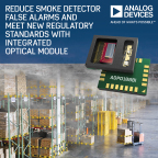 Analog Devices' Integrated Optical Module Reduces Smoke Detector False Alarms and Meets New Regulatory Standards (Graphic: Business Wire)