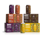 DRY Soda Company, creator of beautifully flavored, lightly sweet sodas, today announced the launch of its second brand, DRY Zero Sugar, a line of sugar-free organic sodas. Available in four bold varieties – Cola, Peach Tea, Mountain Berry and Island Fruit – DRY Zero Sugar organic sodas are lightly sweetened with stevia leaf extract and contain only five to seven ingredients. (Photo: Business Wire)