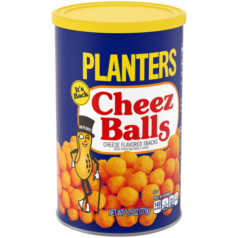 Beginning in July, Planters Cheez Balls and Cheez Curls will roll out on grocery store shelves nationwide and online, starting at a suggested retail price of $1.99. (Photo: Business Wire)