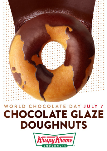 Krispy Kreme shops on 6 continents will offer Chocolate Glaze Doughnuts on July 7, in a global celebration of World Chocolate Day. (Photo: Business Wire)