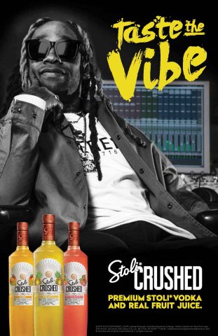 "Stoli Crushed, today, announced its ""Taste the Vibe"" campaign, featuring singer/songwriter/producer, Ty Dolla $ign. (Photo: Business Wire)"