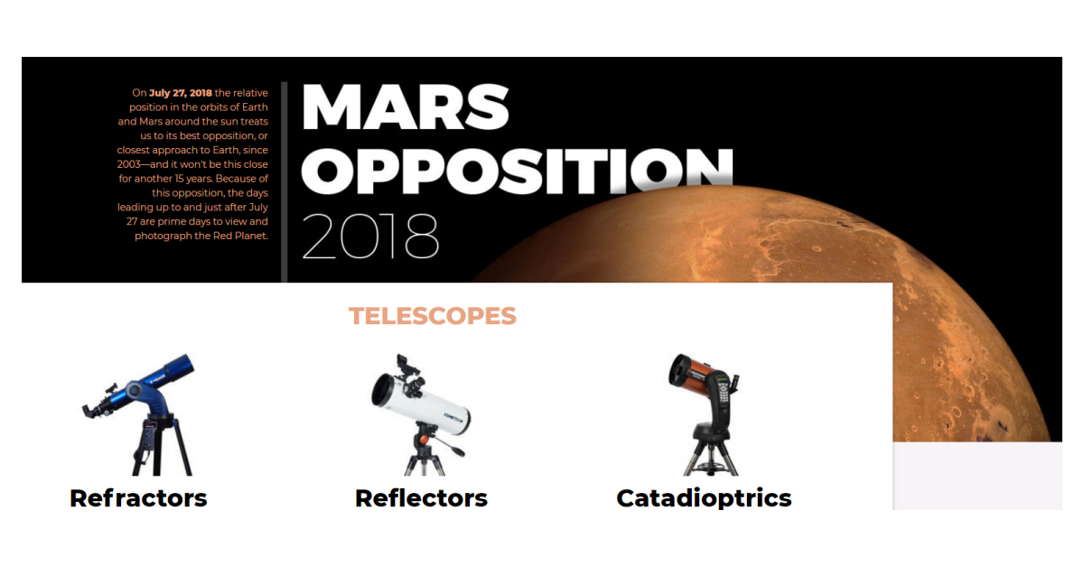 the mars opposition is coming to a sky near you business wire