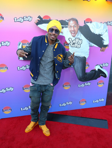 Nick Cannon before the Laffy Taffy comedy show at the world-famous Laugh Factory on Tuesday, June 26, 2018, in Los Angeles. (Photo by Casey Rodgers/Invision for Laffy Taffy/AP Images)