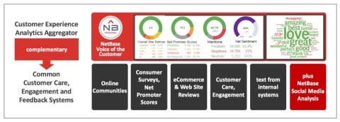 NetBase's integrated Voice of the Customer provides actionable business insights. (Graphic: Business Wire)