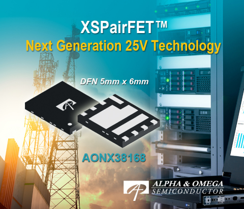 Next Generation 25V Technology: AONX38168 (Graphic: Business Wire)