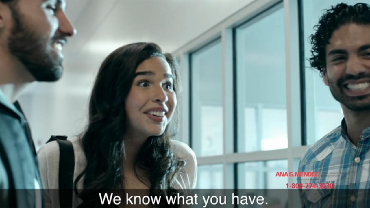 Ana G. Mendez University System VALOR Campaign produced by Latin2Latin Marketing & Communications