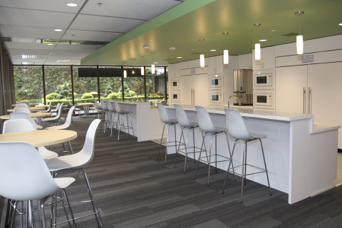 The employee break room in Standard Plaza located in Portland, Ore. (Photo: Business Wire)
