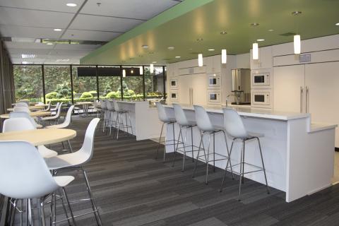 The employee break room in Standard Plaza located in Portland, Ore. (Photo: Business Wire)