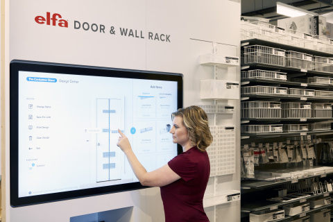 The Container Store Next Generation Store elfa Door & Wall Rack Planner.