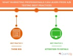WHAT MARKETING PROFESSIONALS CAN LEARN FROM AB TESTING BEST PRACTICES (Graphic: Business Wire)