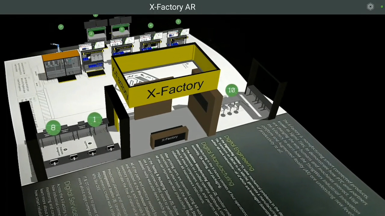 X-Factory was a complete, immersive experience highlighting the manufacturing lifecycle, from front office to shop floor. Attendees were able to experience first-hand the technology behind a smart factory with digital engineering, manufacturing, and service.