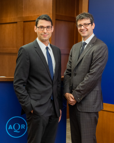 """""""International Currencies and Capital Allocation"""" authors Jesse Schreger and Brent Neiman, 2018 AQR Insight Award Winners (Photo: Business Wire)"""