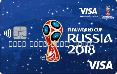 As the exclusive payment service in all stadiums where payment cards are accepted, Visa is providing fans in Russia the ability to purchase innovations for fast, easy and cash-free payment experiences. This includes partnering with Alfa-Bank to offer for purchase: 6,500 Payment Rings (3000 RUB each) and a 30,000 Payment Bands (1000 RUB each). The ring and the band are both NFC-enabled, contactless payment devices that link to a prepaid card. Visa is also offering fans Visa commemorative contactless cards. Consumers only have to load value onto their cards to begin using them, which they can do at Visa Alfa-Bank ATMs or through our online portal. (Photo: Business Wire)