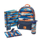 Assortment of Staples Brand products in shark pattern, new for the 2018 back-to-school season. (Photo: Business Wire)