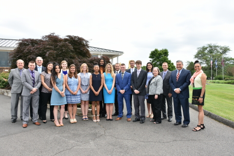 Scholarship winners with members of the NWFCU Foundation Board of Directors and Alexzandra Shade (Photo: Business Wire)