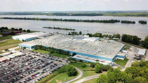 Located on the Tennessee River in Decatur, Al., GE Appliances' Decatur Production Operation announced today a $115 million investment that will create 255 new jobs to make more top-freezer refrigerators at the plant. (Photo: Business Wire)