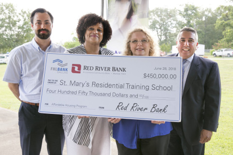 Red River Bank and FHLB Dallas announced a $450,000 AHP grant at a groundbreaking ceremony yesterday, which will result in six new group homes for individuals with special needs in Louisiana. (Photo: Business Wire)