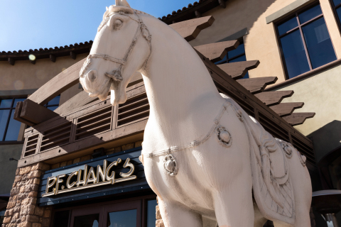 P.F. Chang's guests are greeted by the iconic stone horse, a symbol of strength for the brand at restaurants around the world. (Photo: Business Wire)