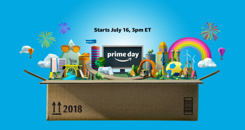 Amazon's highly anticipated annual shopping event, Prime Day will start on July 16 at 12pm PT/3pm ET and will run through July 17. (Photo: Business Wire)