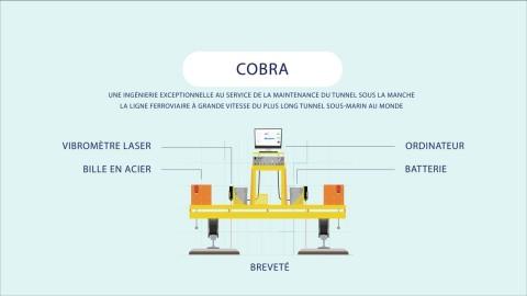 Développé par Eurotunnel et l'Ecole des Ponts ParisTech, COBRA est un Robot d'auscultation des voies pour maintenance préventive. (Photo: Eurotunnel)