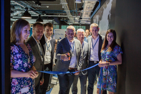 Official Ribbon Cutting Ceremony at the Symphony ROC Krakow. (pictured L-R) Magda Fortuna-Sanocka, Ian Barkin, David Brain, David Poole, Bill Thomas, Pascal Baker and Gabriela Kostkowski (Photo: Business Wire).