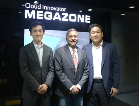 Megazone Corporation, a leading cloud Managed Service Provider (MSP) in Korea, has been selected as a strategic reseller as part of a new Elastic APAC Partner Program. Han Sung-Yup, Country Manager of Elasticsearch Korea Ltd, Andy Karandikar, APAC Senior Director of Elasticsearch and Willy Cho, CEO of Megazone (From left) (Photo: Business Wire)
