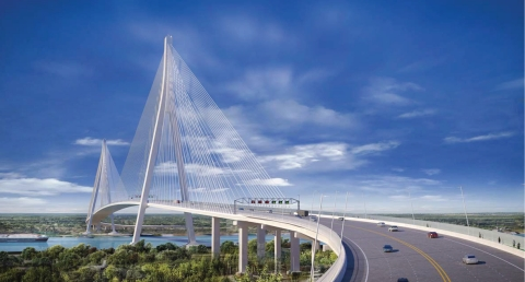 Gordie Howe Bridge rendering (Photo: Business Wire)