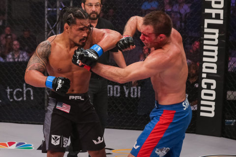 Ray Cooper III defeats Jake Shields at PFL3 (Photo: Business Wire)
