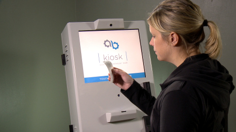 The AB Kiosk prints a receipt upon completion of a successful alcohol screening test. (Photo: Business Wire)