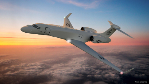 BAE Systems will transition its advanced Compass Call electronic warfare (EW) system to special-mission Gulfstream EC-37Bs to significantly improve mission effectiveness for the U.S. Air Force. (Photo: BAE Systems)