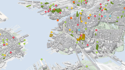 Esri announces it is developing ArcGIS Urban, a solution to give urban planners and designers engaged in government, real estate, and engineering projects better city information. (Graphic: Business Wire)