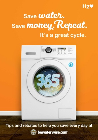 "Metropolitan Water District's new ""365"" campaign encourages Southern Californians to conserve water every day and take advantage of the agency's rebates for appliances. (Graphic: Business Wire)"