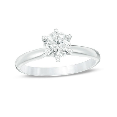 Zales highlights popular engagement ring styles as part of the Pinterest 2018 Wedding Report, including this option for the classic bride. (Photo: Business Wire)