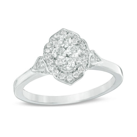 Zales highlights popular engagement ring styles as part of the Pinterest 2018 Wedding Report, including this option for the romantic bride. (Photo: Business Wire)