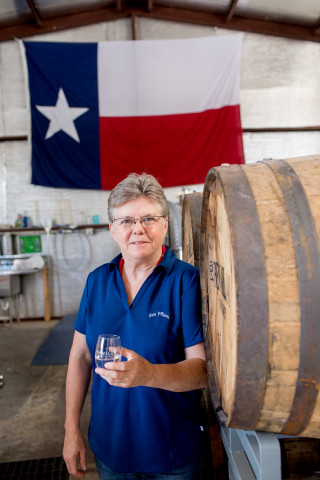 Marlene Holmes, head distiller of Ben Milam Whiskey (Photo by: Andrew Reiner Photography)