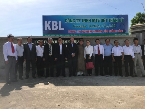 Kraig Biocraft Laboratories celebrates the grand opening of its new spider silk production facility in Quang Nam, Vietnam (Photo: Business Wire)