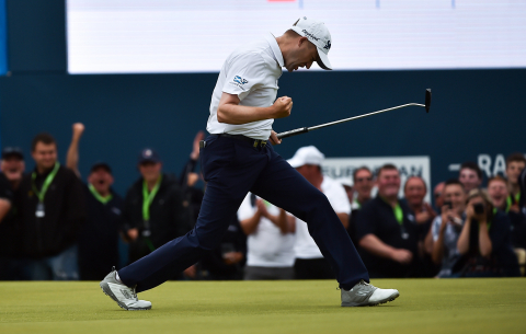 Skechers GO GOLF® elite athlete, Russell Knox, wins the Dubai Duty Free Irish Open. (Photo: Business Wire)