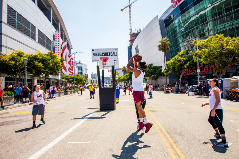 Nike Basketball 3ON3 Tournament at L.A. LIVE celebrates its 10th Anniversary August 3-5, 2018 (Photo: Business Wire)