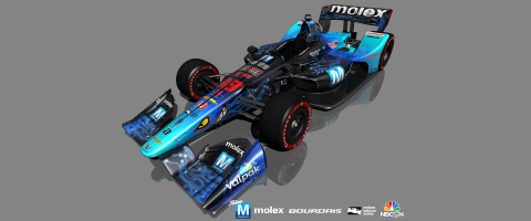 Mouser-sponsored Dale Coyne Racing with Vasser-Sullivan team is now fine tuning the No. 18 car for a victory at Honda Indy Toronto. For the July 15 race, the car will be sporting a new Mouser Blue livery. (Photo: Business Wire)