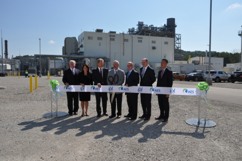 IPL leaders and Indiana officials ceremoniously cut the ribbon on IPL's new Combined-Cycle Gas Turbi ...