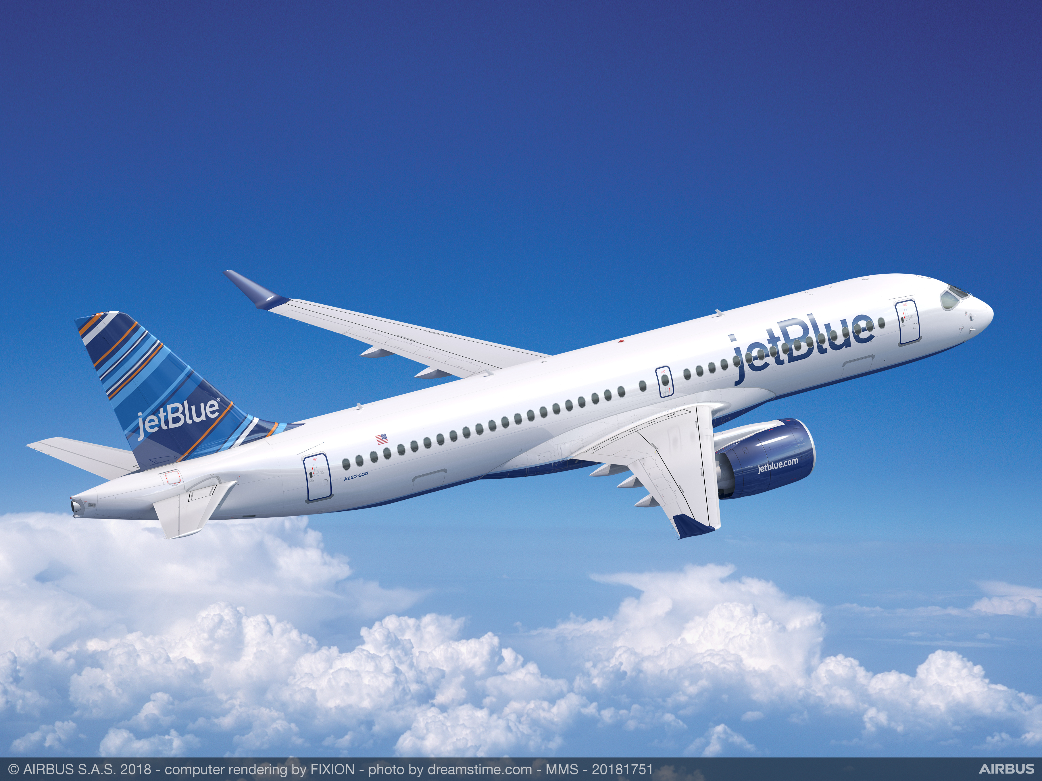 jetblue selects airbus a220 300 as key component of its next
