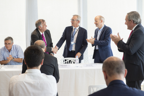 """Bertin IT joins the Chair in """"Industrial Data Analytics & Machine Learning"""" created by Atos, CEA and Ecole Normale Supérieure Paris-Saclay (Photo: Thomas Leaud)"""