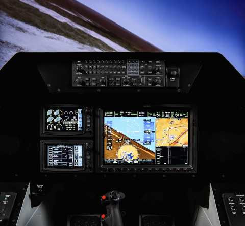 G3000 flight deck in a tandem cockpit configuration. (Photo: Business Wire)