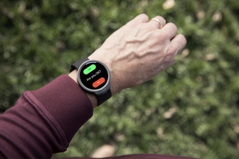 The iBeat Heart Watch continuously monitors heart rate and blood flow for life-threatening emergenci ...