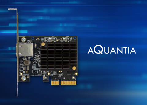 Aquantia's special gamer edition of the AQtion AQN-107 Ethernet adapter, available exclusively on Am ...