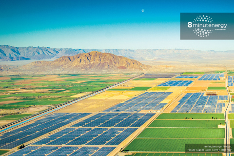 8minutenergy's 800 MW Mount Signal Solar Farm Among the Largest PV Plants in the World (Photo: Business Wire)