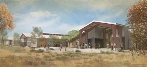 JUSTIN and J. LOHR Center for Wine and Viticulture Rendering (Photo: Business Wire)