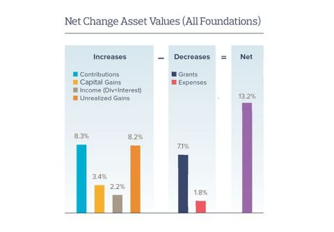 Net Change Asset Values (All Foundations). (Graphic: Business Wire)