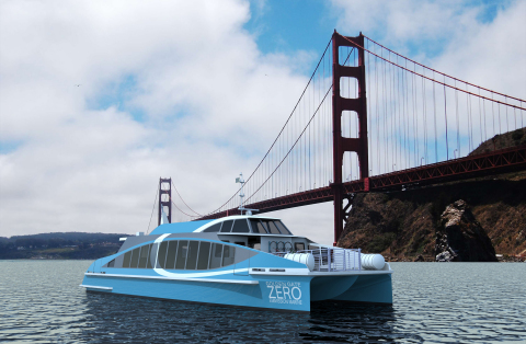 Bay Ship and Yacht Co. recently won the contract to build the first hydrogen fuel cell passenger vessel in the U.S.A. The seventy-foot vessel, named Water-Go-Round, is expected to be delivered and in service by Sept. 2019 (Photo: Business Wire)
